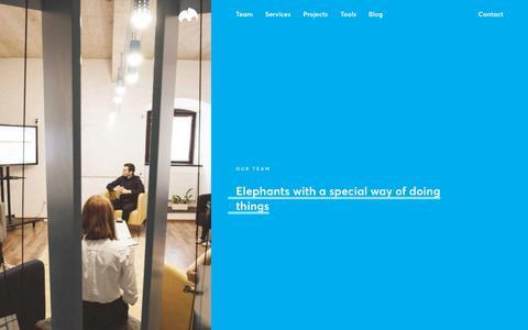 Screenshot of Team Page thinslices.com - Team – Thinslices - captured Sept. 21, 2018
