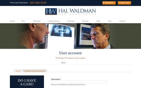 Screenshot of Login Page waldmaninc.com captured Jan. 24, 2016