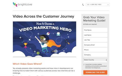 Screenshot of Landing Page brightcove.com - Brightcove | Video Marketing Across the Customer Journey - captured Sept. 8, 2016