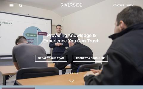 Screenshot of Home Page riverside-es.com - Home - Riverside Environmental - captured Oct. 18, 2018