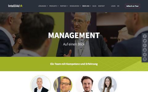Screenshot of Team Page intelliad.de - intelliAd Management - captured Sept. 22, 2018