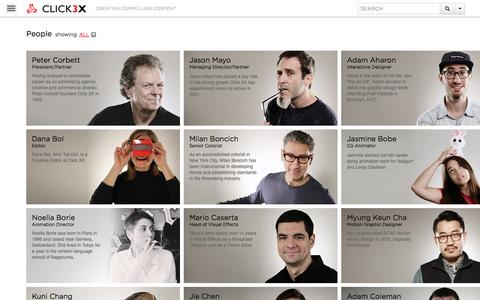 Screenshot of Team Page click3x.com - Click 3X - captured Sept. 19, 2014