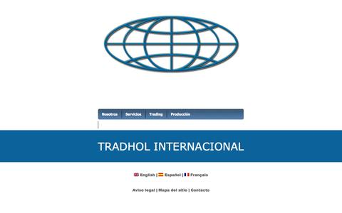 Screenshot of Home Page tradholint.com - Tradhol Internacional S.A. - captured Oct. 7, 2014