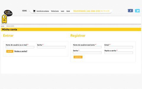 Screenshot of Login Page smilehouse.com.br - Minha conta - Smile House - Cartões Comemorativos e Presentes - captured Sept. 30, 2014