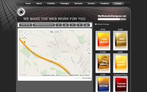 Screenshot of Maps & Directions Page mywebsitedesigner.net - Location details - captured Nov. 4, 2014