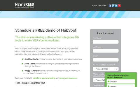 HubSpot Demo | New Breed
