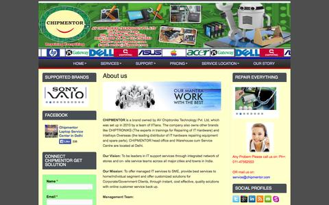 Screenshot of About Page chipmentor.com - About us   Chipmentor - captured Oct. 2, 2014