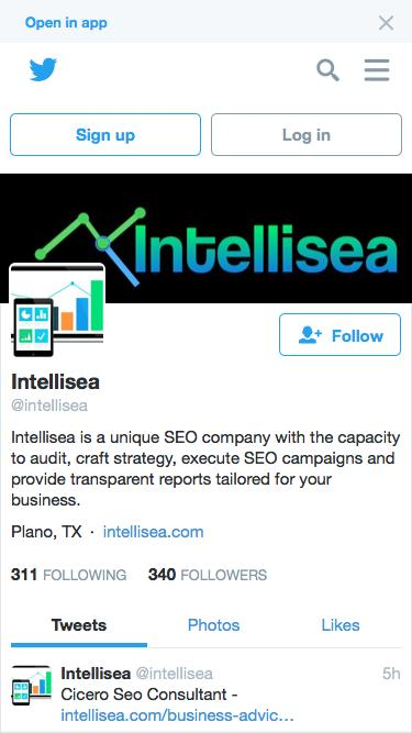 Screenshot of  twitter.com - Intellisea (@intellisea) | Twitter