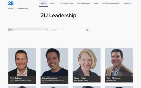 2U Leadership | 2U