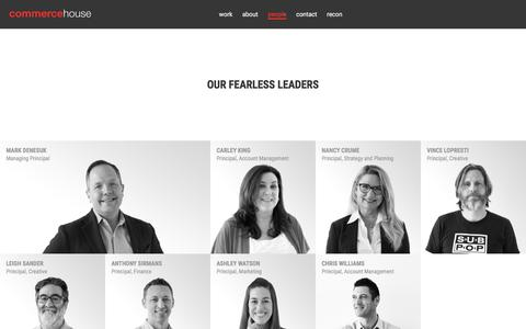 Screenshot of Team Page commercehouse.com - Commerce House | People | Full Service Advertising Agency - captured July 20, 2018