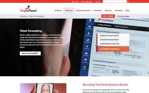 Talent Forecasting | PeopleFluent