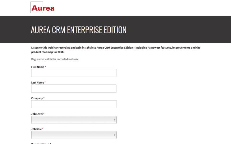Recorded Webinar: Aurea CRM Enterprise Edition | Aurea
