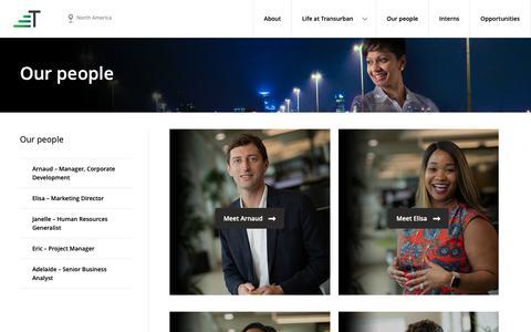 Screenshot of Team Page transurban.com - Our people | Transurban Careers - captured Nov. 1, 2018