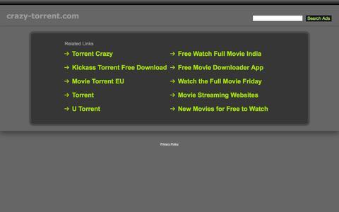 Screenshot of Contact Page crazy-torrent.com - Crazy-Torrent.com - captured Aug. 5, 2015