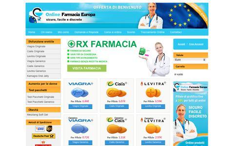 Screenshot of Home Page alsangiustofarmacia.com - Cialis amex molecola | Vendita Farmaci Online Italia - captured Jan. 28, 2018