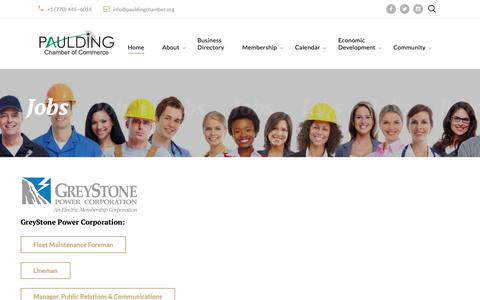 Screenshot of Jobs Page pauldingchamber.org - Paulding Chamber of Commerce Jobs - captured Oct. 21, 2018