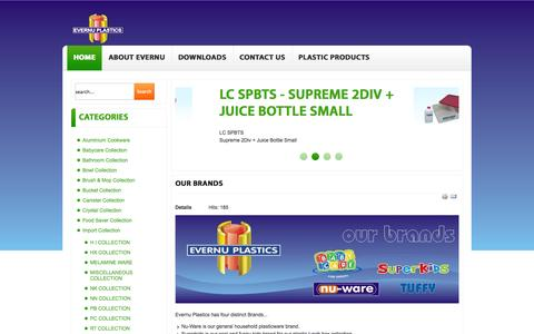 Screenshot of Home Page evernuplastics.co.za - Evernu Plastics - Evernu Plastics. Buckets, basins, containers, chairs and houswares - captured Oct. 3, 2014