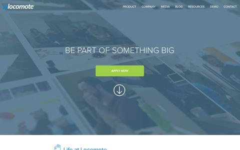 Screenshot of Jobs Page locomote.com - Locomote - Join something big - captured Dec. 10, 2015