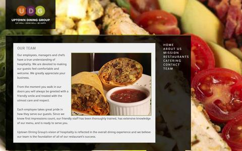 Screenshot of Team Page uptowndininggroup.com - Uptown Dining Group - Our Team - captured Oct. 26, 2014