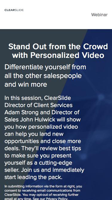 Stand Out from the Crowd with Personalized Video