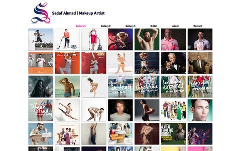 Screenshot of Home Page sadafmakeup.com - Sadaf Makeup Artist - captured Jan. 20, 2017