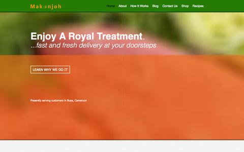 Screenshot of Home Page makonjoh.com - Home - Makonjoh - Grocery Delivery Service, Cameroon - captured Sept. 30, 2014