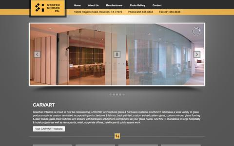 Screenshot of Home Page specinteriors.com - Architectural Design | Interior & Exterior |Independent Manufacturer's Agency - Spec Interiors - captured Oct. 6, 2014