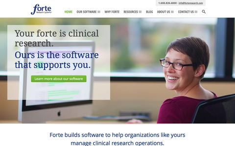 Forte Research Systems | Specialized Software for Clinical Research