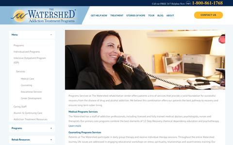 Services - The Watershed | Addiction Treatment Programs Services