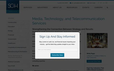 Technology & Communications | SC&H Group