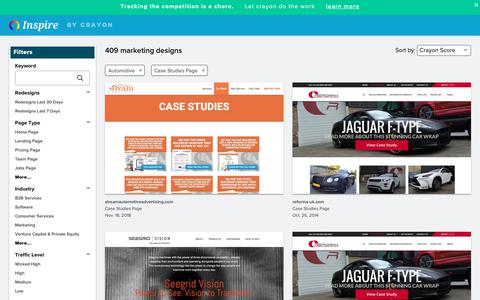Screenshot of Case Studies Page crayon.co - Automotive Case Studies Pages | Website Inspiration and Examples | Crayon - captured Dec. 4, 2018