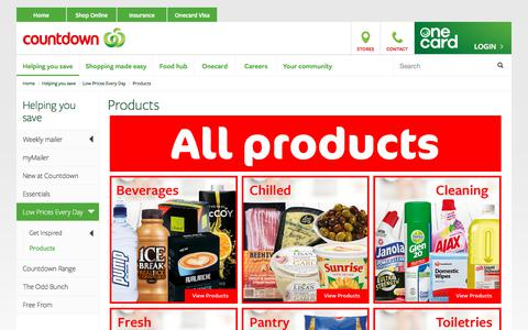 Screenshot of Products Page countdown.co.nz - Products - Countdown - captured July 21, 2017