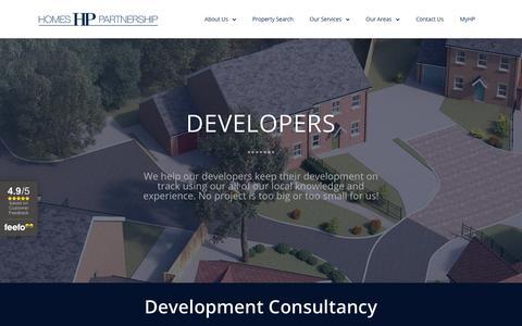 Screenshot of Developers Page homes-partnership.co.uk - Developers - Homes Partnership Estate Agents Crawley - captured Nov. 4, 2018