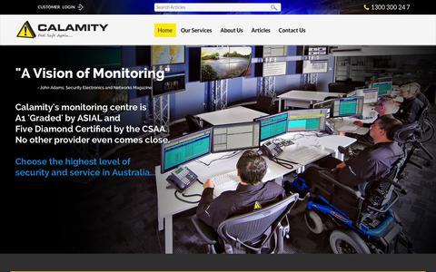 Screenshot of Home Page calamity.com.au - Calamity - captured Oct. 1, 2014
