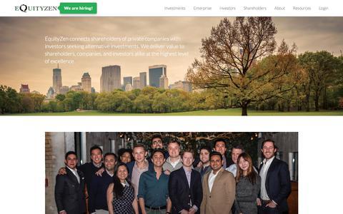 Screenshot of Team Page equityzen.com - Our Team | EquityZen - captured June 20, 2018