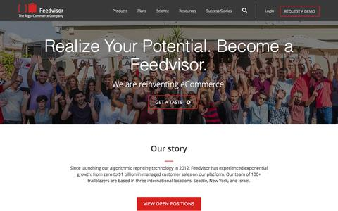 Screenshot of Jobs Page feedvisor.com - Careers at Feedvisor - Feedvisor - captured March 26, 2017
