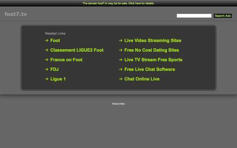 Screenshot of Home Page foot7.tv - Foot7.tv - captured Sept. 3, 2015