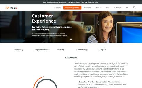 Screenshot of Support Page keal.com - Customer Experience - Keal Technology - captured Oct. 15, 2018