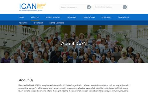 Screenshot of About Page icanpeacework.org - About ICAN - captured Feb. 11, 2016
