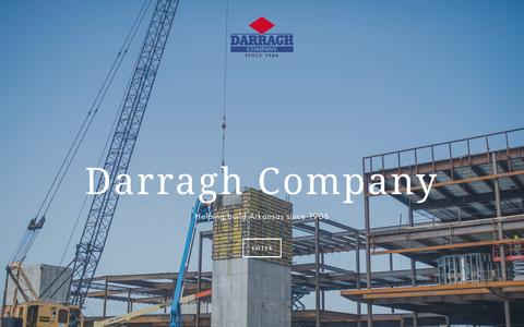 Screenshot of Home Page darraghcompany.com - Darragh Company - captured Jan. 7, 2016
