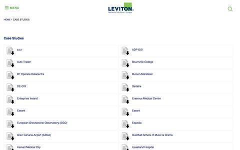 Screenshot of Case Studies Page brand-rex.com - Case Studies | Leviton Network Solutions Europe - captured Aug. 3, 2018