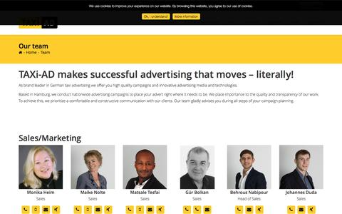 Screenshot of Team Page taxi-ad.de - TAXi-AD contact person for you taxi-advertisement - captured March 27, 2017