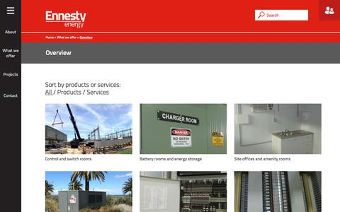 Screenshot of Products Page Services Page ennesty.com.au - Overview - Ennesty Energy - captured Jan. 29, 2016