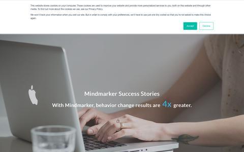 Screenshot of Case Studies Page mindmarker.com - Mindmarker Success Stories | Behavior change results are 4x greater. - captured Feb. 12, 2020