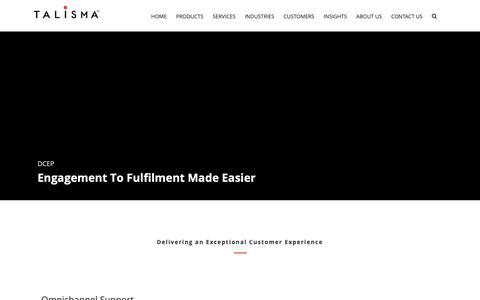 Screenshot of Products Page talisma.com - Customer Engagement Platform -Omnichannel, RPA & Analytics - captured Dec. 20, 2018