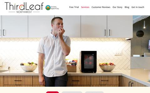Screenshot of Services Page thirdleafnw.com - Snack Delivery Seattle WA | Snack Box Delivery Seattle | Snack Delivery Service Seattle - captured Aug. 23, 2019