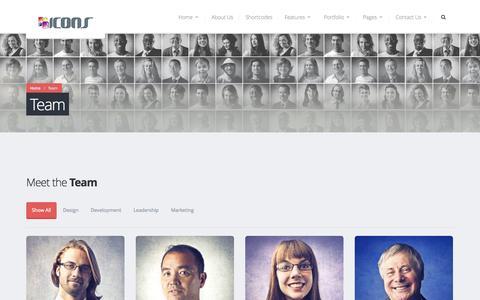 Screenshot of Team Page iconsengineering.com - Team   Icons Engineering - captured Oct. 4, 2014