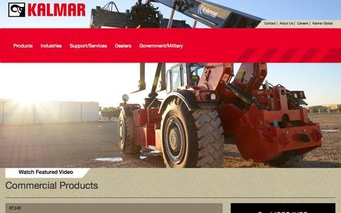 Screenshot of Home Page Products Page kalmarrt.com - | Kalmar RT - captured Oct. 6, 2014