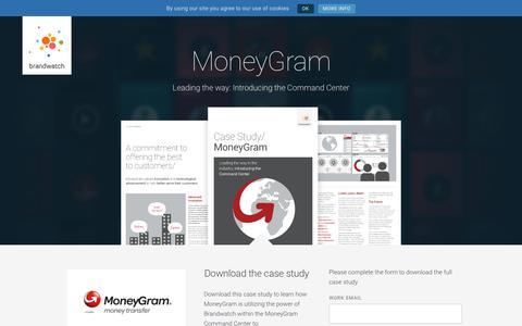 Screenshot of Case Studies Page brandwatch.com - MoneyGram | Brandwatch - captured Oct. 20, 2017
