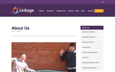 Screenshot of About Page linkage.org.uk - About Linkage | The Lincolnshire Specialist Further Education College - captured Sept. 29, 2018
